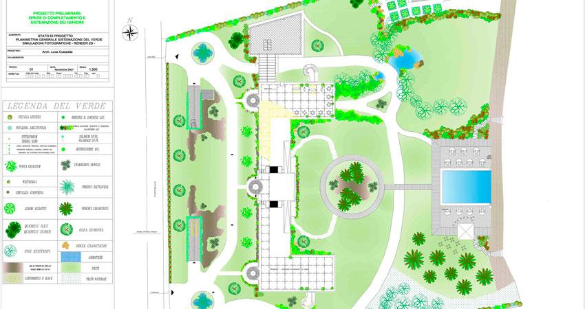 progettazione giardino abitazione privata